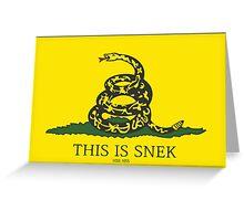 Liberty Snek - Hiss Hiss Greeting Card