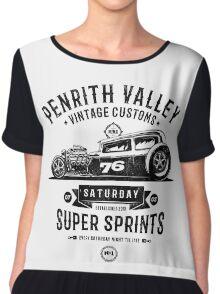 Vintage Customs Super Sprints [Black Mono] Chiffon Top