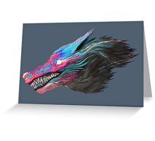 Color Wolf Greeting Card