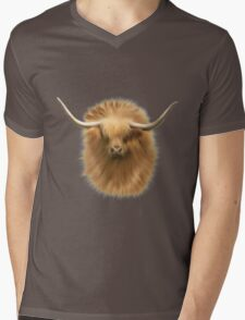 Highland cattle bull Mens V-Neck T-Shirt