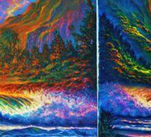 Napali Cliff's Sunset - Diptych Sticker