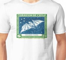 Antique 1948 Chile Red Fruit Bat Postage Stamp Unisex T-Shirt