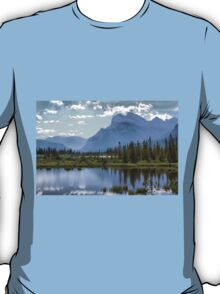 Vermillion Lake and Rundle Mountain T-Shirt
