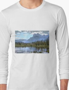 Vermillion Lake and Rundle Mountain Long Sleeve T-Shirt