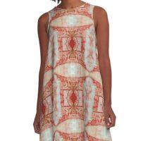 Pagoda Emblem A-Line Dress