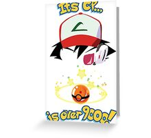 Its CP is over 9000! Greeting Card