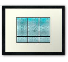456 Framed Print