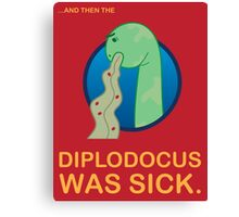 Sick Diplodocus Canvas Print