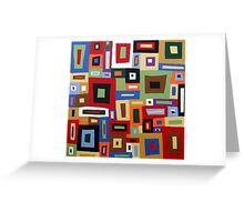 Colored Blocks Greeting Card