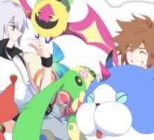 playful monsters sora and riku Sticker