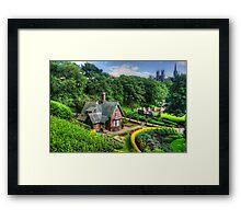 Cottage and Memorial Framed Print