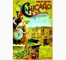 """CHICAGO WORLDS FAIR"" Vintage (1893) Advertising Print Unisex T-Shirt"