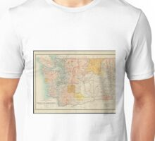 Vintage Map of Washington State (1897) Unisex T-Shirt