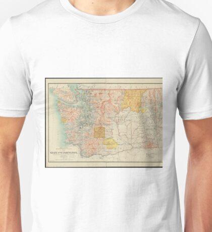 Vintage Map of Washington State (1897) Unisex T-Shirt
