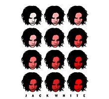 Jack White - Red Pattern Photographic Print