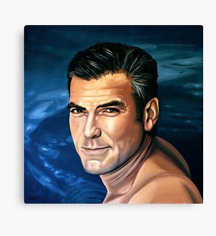 George Clooney 2 Painting Canvas Print