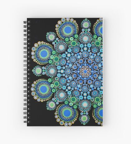 Blue and Green Mandala Spiral Notebook