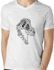 Black Calligram Tyrannosaur Skull T-Shirt