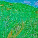Green green Bieszczady Mountains. pastel drawings by Andrzej Goszcz. by © Andrzej Goszcz,M.D. Ph.D