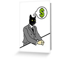 Cat Man Greeting Card