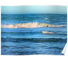 Beautiful painted waves on the Queensland coast Poster