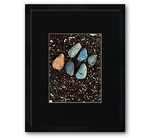 One rock, Two rock, Three rock, Four... Framed Print