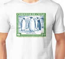 1948 Chile Emperor Penguin Postage Stamp Unisex T-Shirt