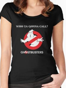 GhostBusters - Who ya gonna call t-shirt Women's Fitted Scoop T-Shirt