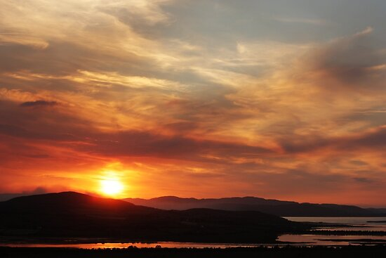 Solstice sunset by Agnes McGuinness