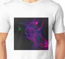 Pink, purple and blue flame fractal - digital art Unisex T-Shirt