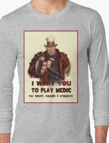 Uncle Heavy wants YOU Long Sleeve T-Shirt