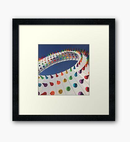 Spiked Rainbow Framed Print