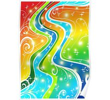 Bright Swirls and Colors  Poster