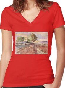 Winter in Tarlton Women's Fitted V-Neck T-Shirt