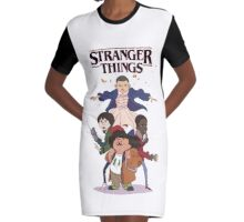 stranger things - netflix tv series Graphic T-Shirt Dress