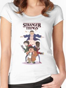 stranger things - netflix tv series Women's Fitted Scoop T-Shirt