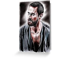 Richard Armitage intense John Proctor Greeting Card