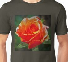 Riotous orange rose Unisex T-Shirt