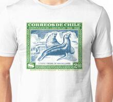 Antique 1948 Chile Sea Lion Postage Stamp Unisex T-Shirt