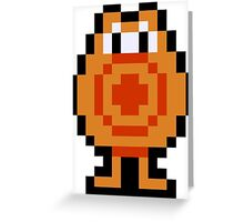 Pixel Q*Bert Greeting Card