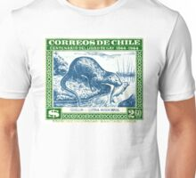 1948 Chile River Otter Postage Stamp Unisex T-Shirt