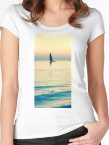 Rainbow Sail Women's Fitted Scoop T-Shirt