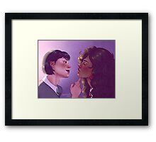 Pansy and Hermione Framed Print