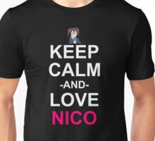 Keep Calm And Love Nico Anime Manga Shirt Unisex T-Shirt