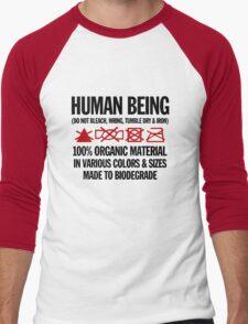 the care & washing of humans Men's Baseball ¾ T-Shirt