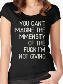 No immense fuck was given - Kesha Rose Sebert Women's Fitted Scoop T-Shirt