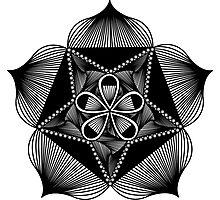 Petal Pentagram Photographic Print