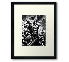 Angry Kenshiro Framed Print