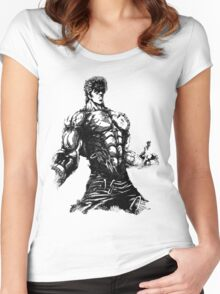 Angry Kenshiro Women's Fitted Scoop T-Shirt