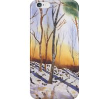 The Snowy Woodland iPhone Case/Skin